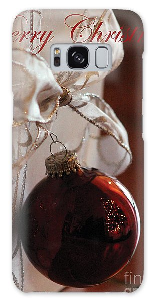 Christmas Ball And Bow Galaxy Case