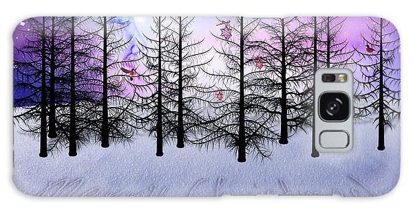 Christmas Bare Trees Galaxy Case