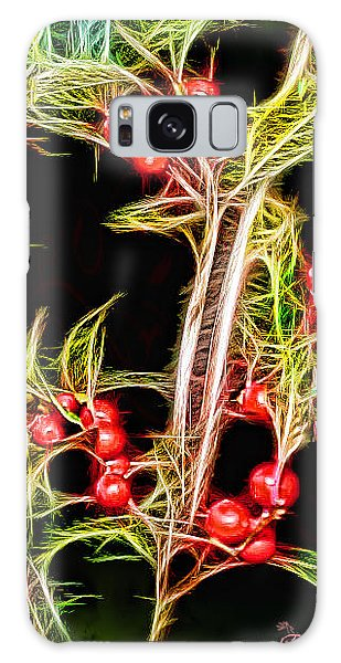 Christmas Berries Galaxy Case by EricaMaxine  Price