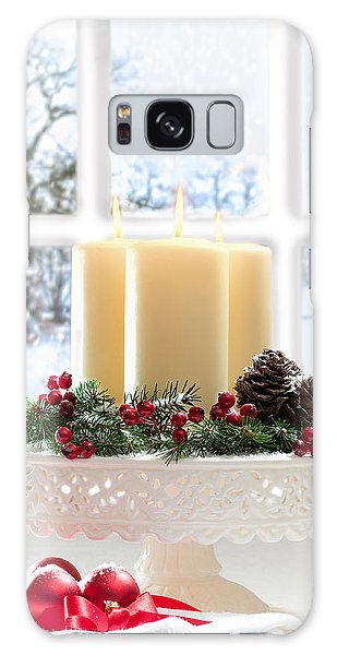 Window Galaxy Case - Christmas Candles Display by Amanda Elwell