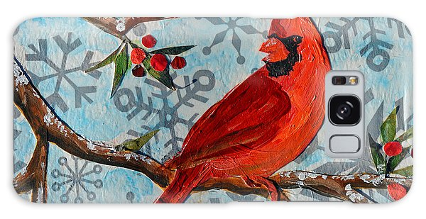 Christmas Cardinal Galaxy Case