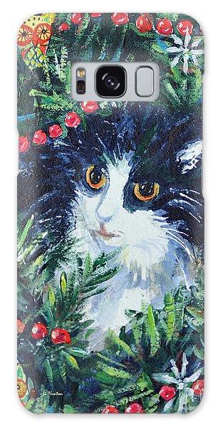 Christmas Catouflage Galaxy Case by Li Newton