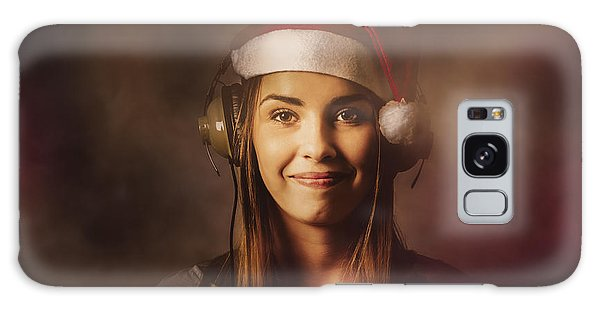 Galaxy Case featuring the photograph Christmas Disco Dj Woman by Jorgo Photography - Wall Art Gallery