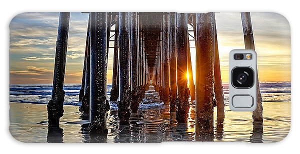 Christmas Eve At The Pier Galaxy Case by Ann Patterson