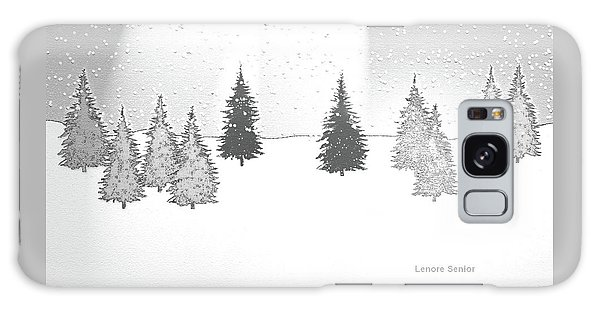 Christmas Eve Galaxy Case by Lenore Senior