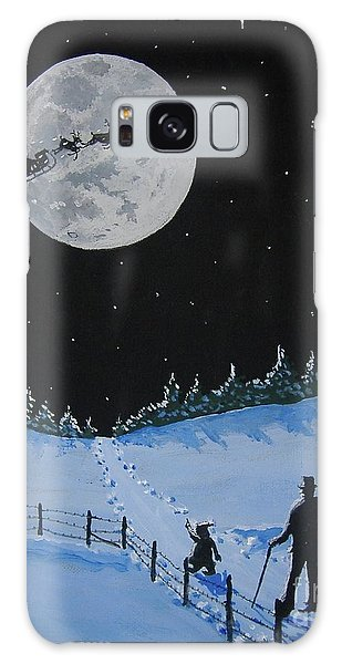 Christmas Eve Stroll Galaxy Case