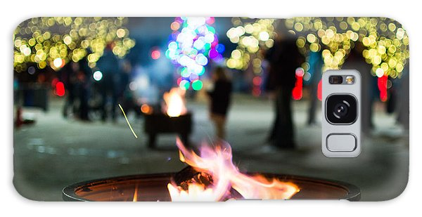 Christmas Fire Pit Galaxy Case