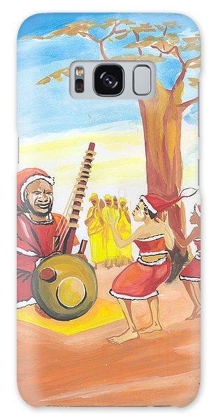 Christmas In Senegal Galaxy Case by Emmanuel Baliyanga
