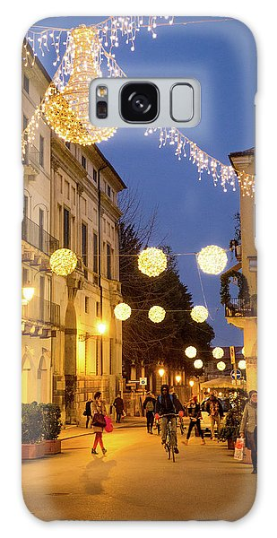 Christmas In Vicenza Italy Galaxy Case