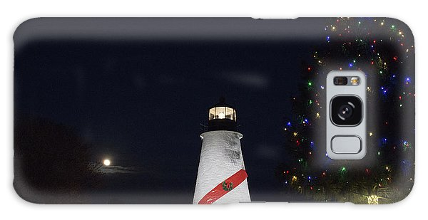 Christmas Lighthouse Galaxy Case
