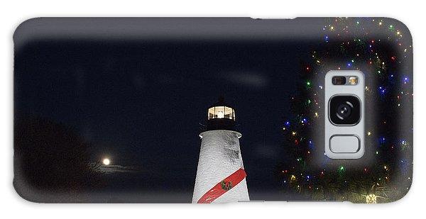 Christmas Lighthouse Galaxy Case