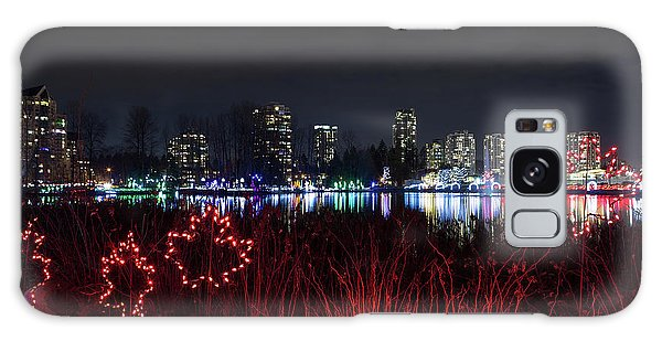 Christmas Lights At Lafarge Lake In City Of Coquitlam Galaxy Case
