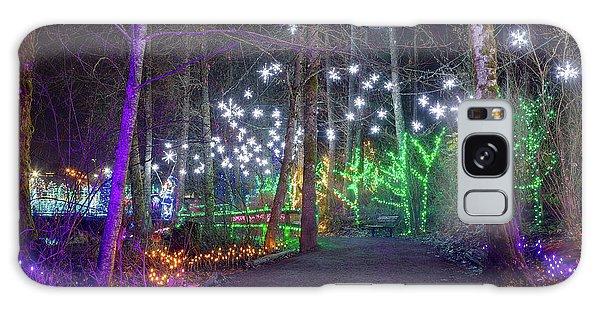 Christmas Lights Decoration Along Lafarge Lake Path Galaxy Case