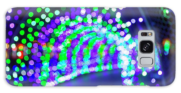 Christmas Lights Decoration Blurred Defocused Bokeh Galaxy Case