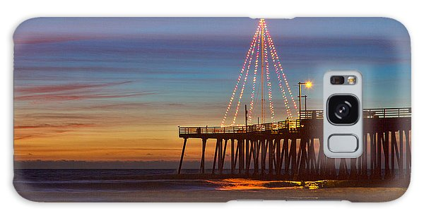 Christmas Lights On The Pismo Pier Galaxy Case
