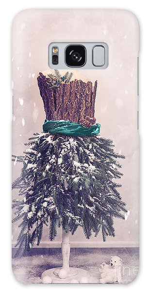 Dress Form Galaxy Case - Christmas Mannequin Dressed In Fir Branches by Amanda Elwell