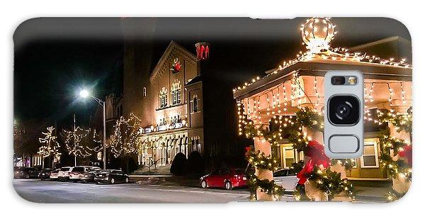 Christmas On Main Street Easthampton Galaxy Case
