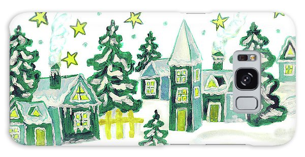 Christmas Picture In Green Galaxy Case by Irina Afonskaya