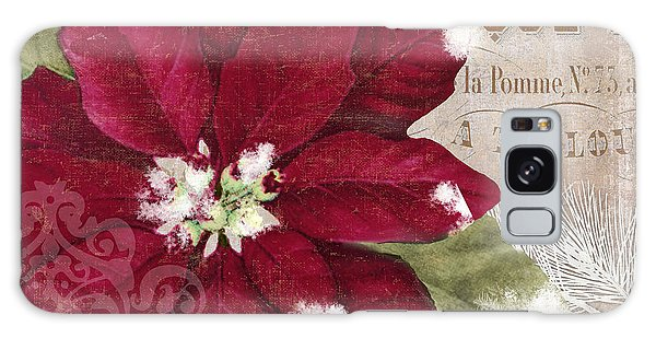 Amaryllis Galaxy Case - Christmas Poinsettia by Mindy Sommers