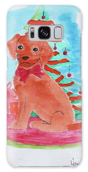 Christmas Puppy  Galaxy Case