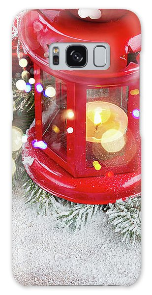 Christmas Red Lantern  Galaxy Case