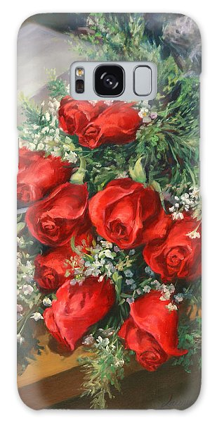 Breathe Galaxy Case - Christmas Red Roses by Laurie Snow Hein