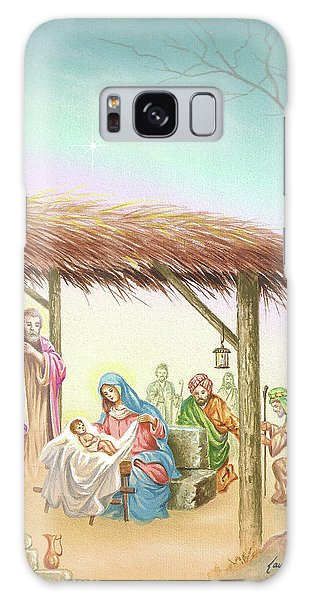 Christmas Scene 1 Galaxy Case