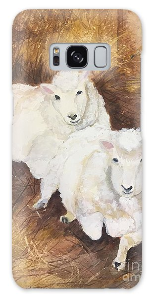Christmas Sheep Galaxy Case by Lucia Grilletto