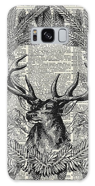 Vintage Galaxy Case - Christmas Stag by Anna W