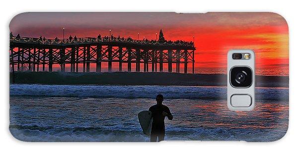 Christmas Surfer Sunset Galaxy Case
