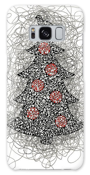 Christmas Tree Pen And Ink Drawing Galaxy Case