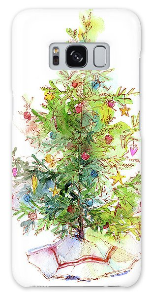 Pine Branch Galaxy Case - Christmas Tree With Skirt by John Keeling
