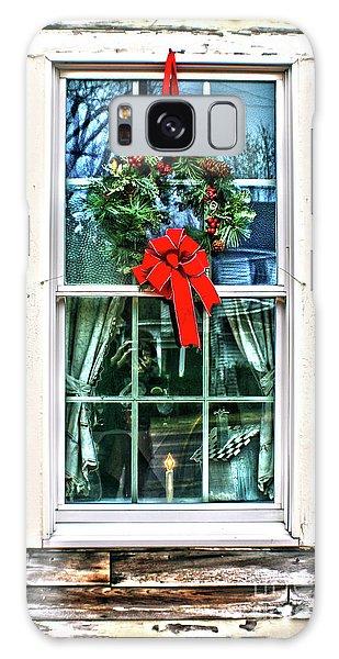 Christmas Window Galaxy Case by Sandy Moulder