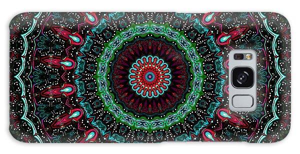 Galaxy Case featuring the digital art Christmas Wreath Kaleidoscope by Joy McKenzie