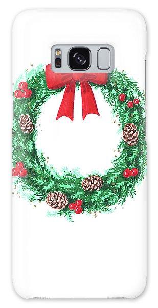 Christmas Wreath Galaxy Case