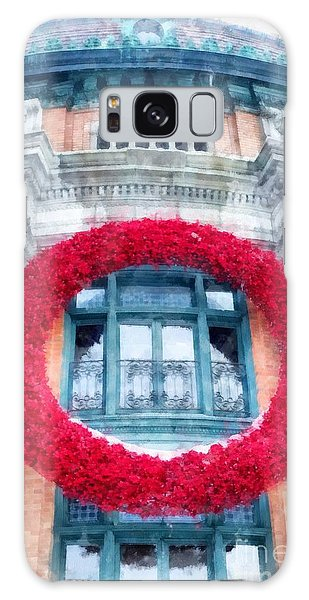 Quebec City Galaxy Case - Christmas Wreath Old Quebec City by Edward Fielding