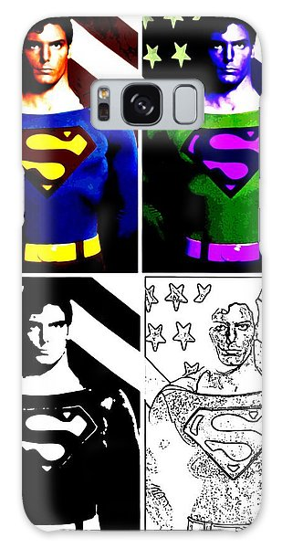 Christopher Reeve - Our Man Of Steel 1952 To 2004 Galaxy Case by Saad Hasnain