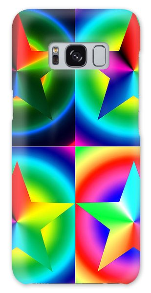 Chromatic Star Quartet With Ring Gradients Galaxy Case