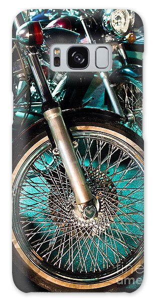 Chrome Rim And Front Fork Of Vintage Style Motorcycle Galaxy Case