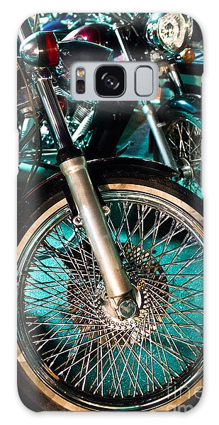 Chrome Rim And Front Fork Of Vintage Style Motorcycle Galaxy Case by Jason Rosette