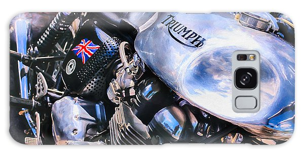 Street Cafe Galaxy Case - Chromed Cafe Racer by Tim Gainey