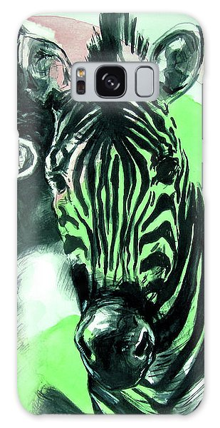 Galaxy Case featuring the painting Chronickles Of Zebra Boy   by Rene Capone