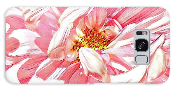 Close Up Galaxy Case - Chrysanthemum In Pink by Shadia Derbyshire