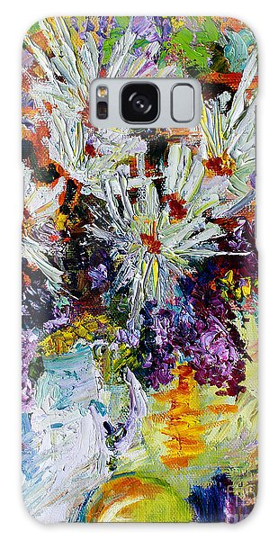 Chrysanthemums And Lilacs Still Life Galaxy Case