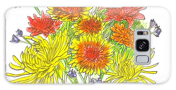 Chrysanthemums Galaxy Case by Deborah Dendler