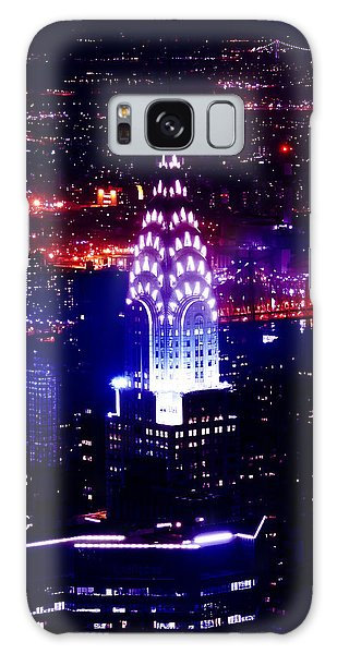 Chrysler Building Galaxy Case - Chrysler Building At Night by Az Jackson