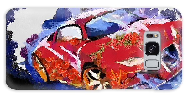 Chubby Car Red Galaxy Case by Catherine Lott