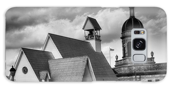 Church And Courthouse In Black And White Galaxy Case