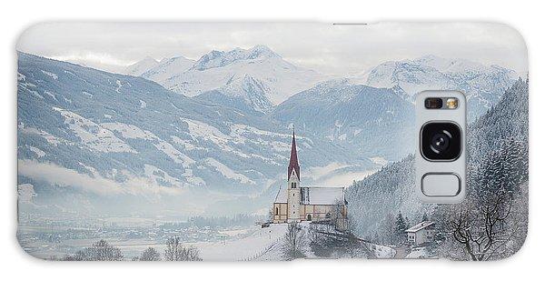 Church In Alpine Zillertal Valley In Winter Galaxy Case