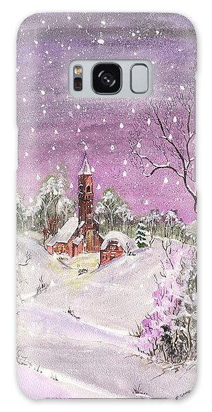 Galaxy Case featuring the digital art Church In The Snow by Darren Cannell